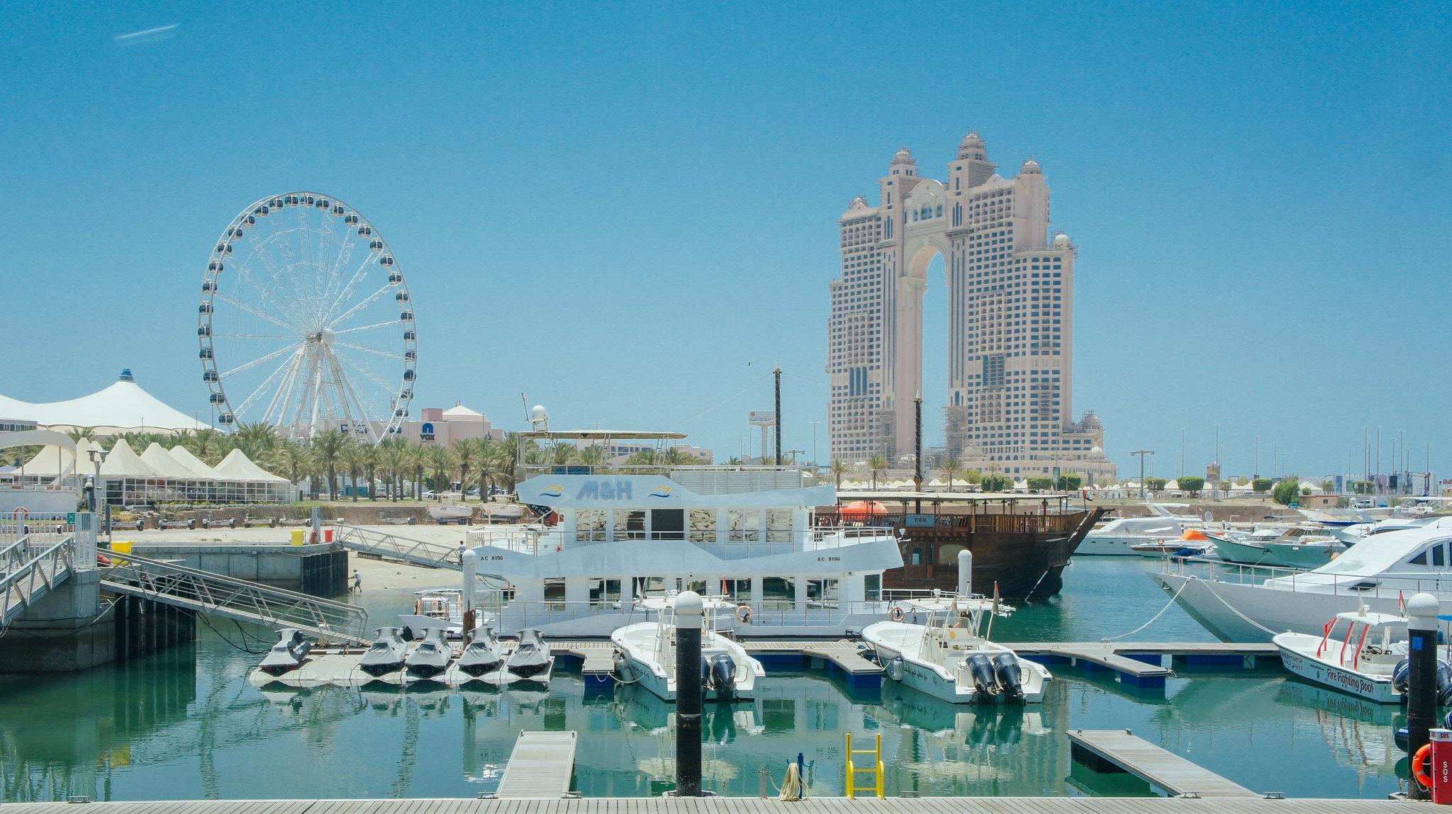 View of Abu Dhabi marina