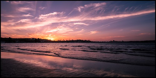 sunset sydney harbour sydneyharbour bay rosebay s