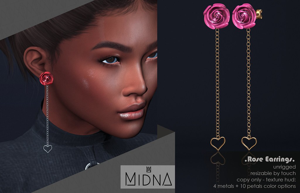 Midna – Rose Earrings