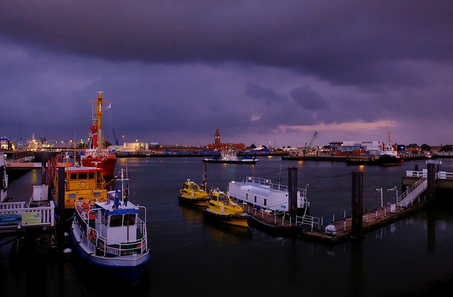 Cuxhaven - Port at Dusk