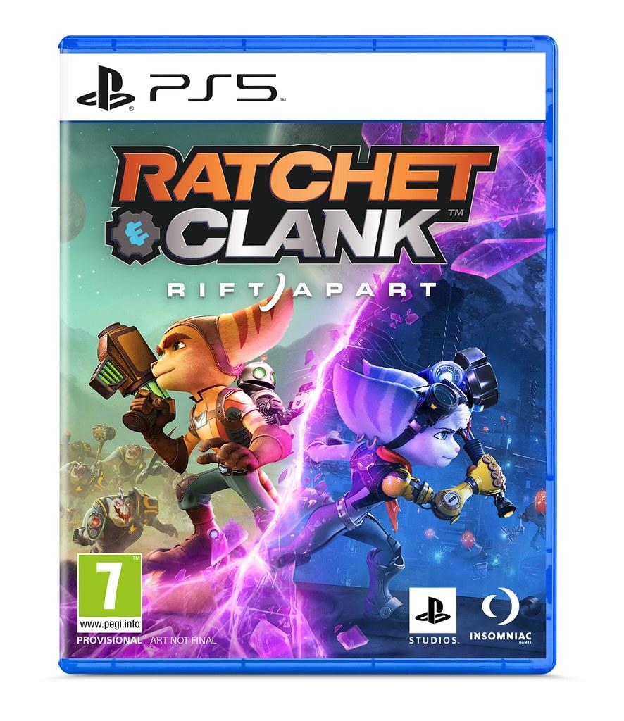 Capa de Ratchet & Clank: Rift Apart para PS5.
