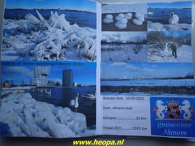2021-02-10    Winter in          Almere-stad       20 Km (86)