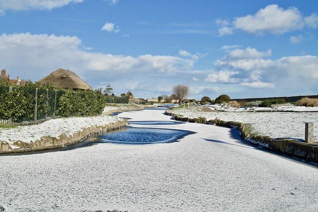 Waterways in Snow.