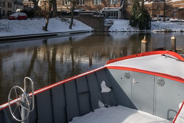 Boat on the WIttevrouwensingel, Utrecht