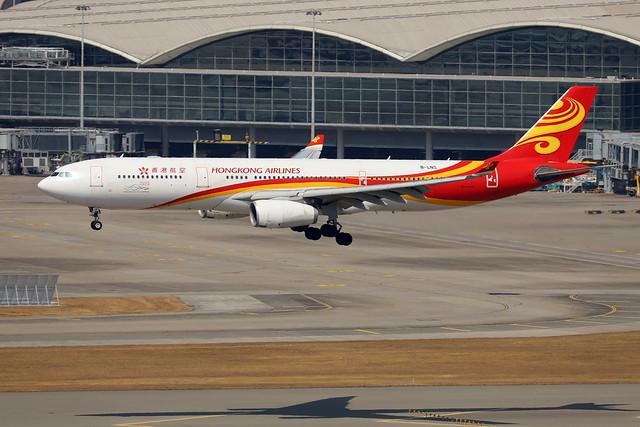 Hong Kong Airlines A330-300 B-LNS landing HKG/VHHH