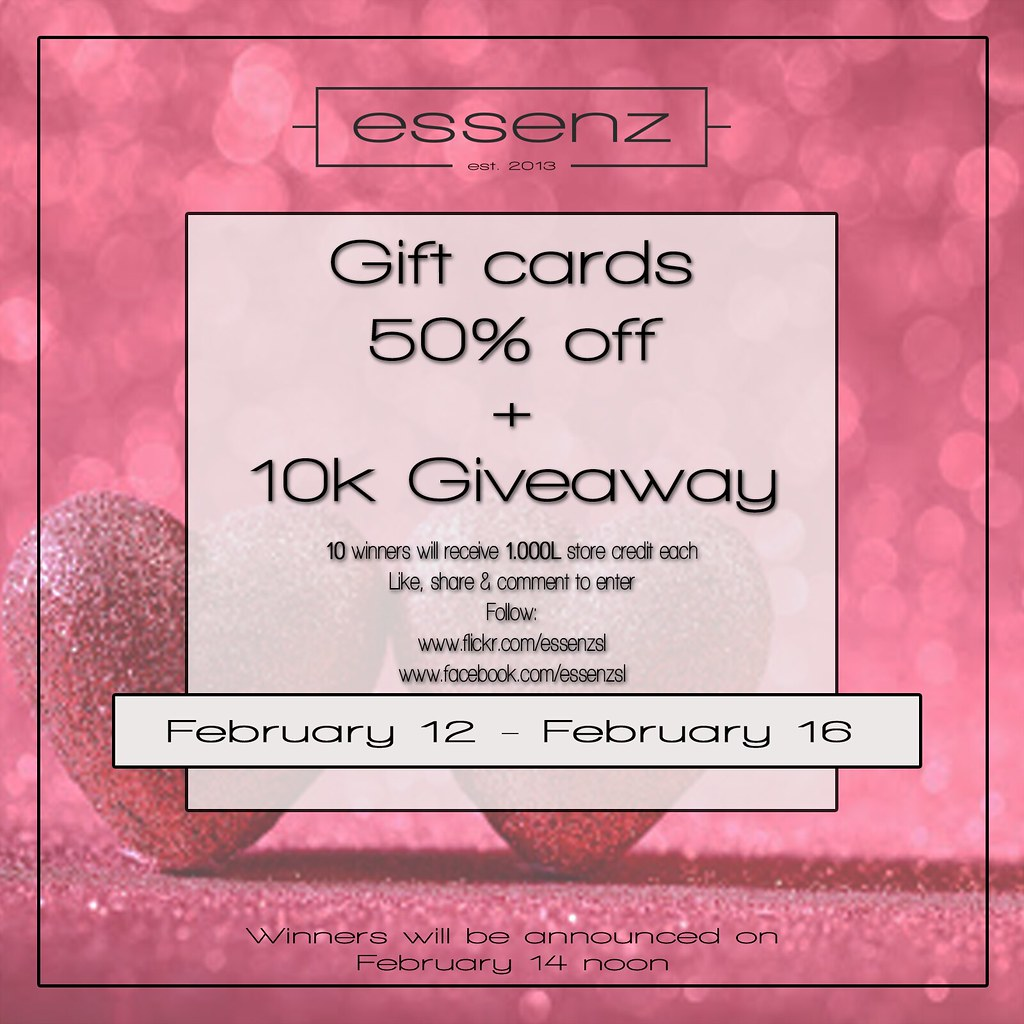 Essenz – Valentines Gift card sale & Giveaway
