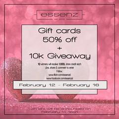 Essenz - Valentines Gift card sale & Giveaway