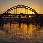 Tyne Bridges At Dusk