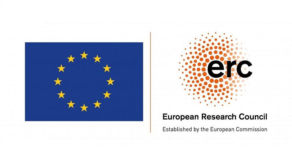 EC flag and ERC logo