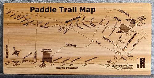 Cedar Plank Paddle Map