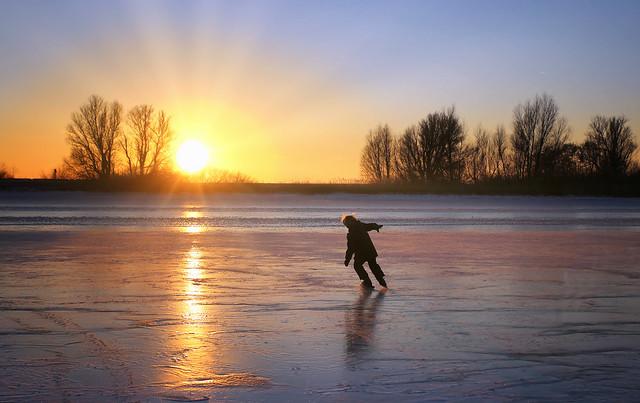 Skating till the last rays of light