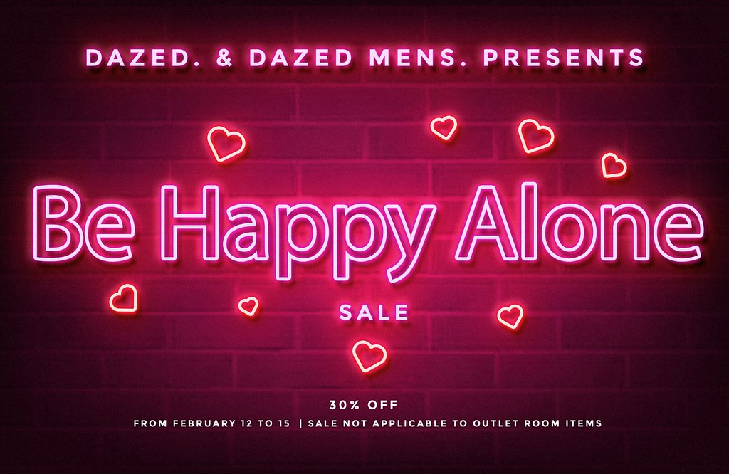 BE HAPPY ALONE SALE
