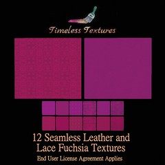 TT 12 Seamless Leather and Lace Fuchsia Timeless Textures
