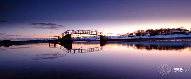 Dawn at the Belhaven Bay Bridge