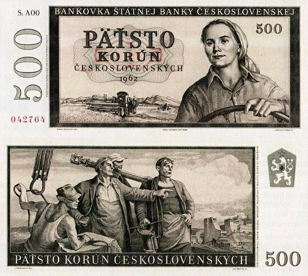 500 Kčs Československo 1962 nevydaná - REPLIKA
