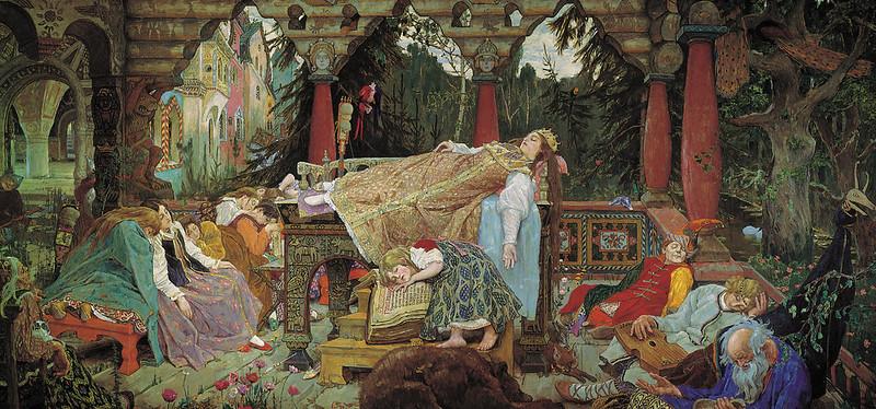 Viktor Vasnetsov - Sleeping Princess, 1913-17