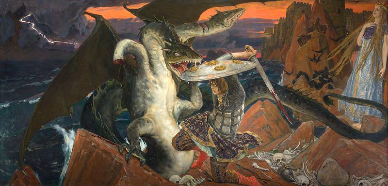 Viktor Vasnetsov - Prince Ivan's Battle with the Three-Headed Serpent, 1910–1912