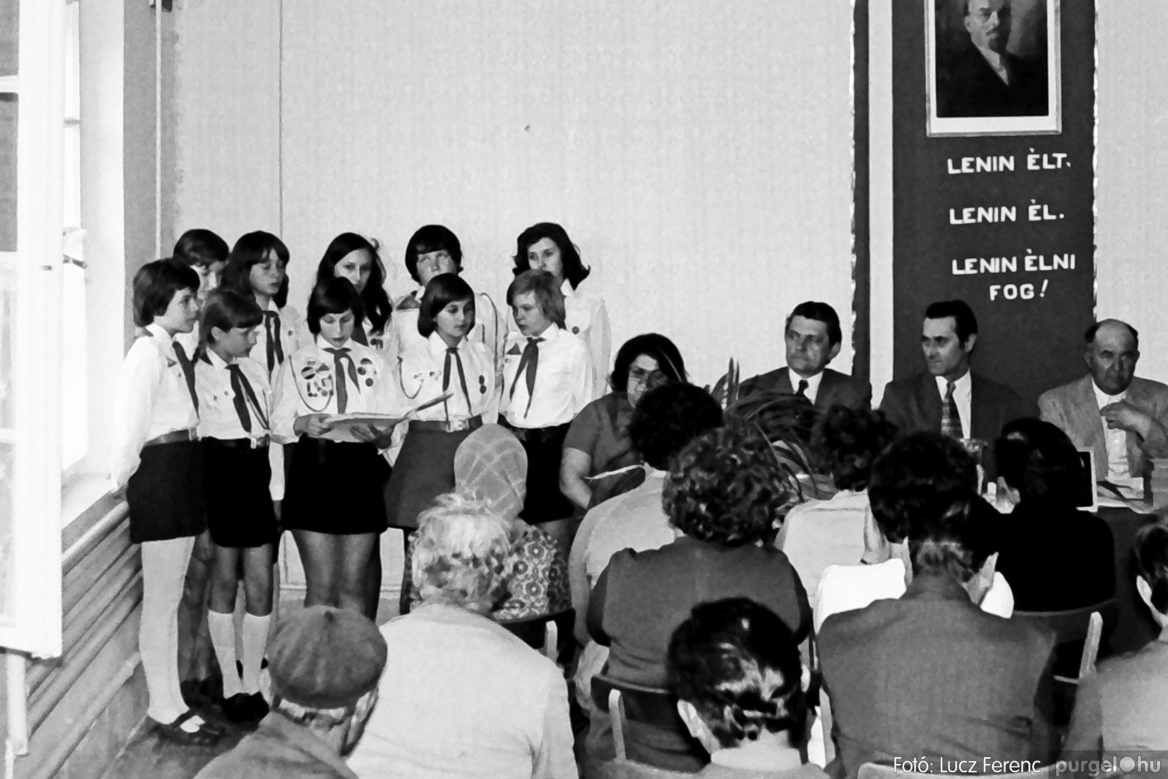 038. 1976. Ünnepség a kendergyárban 002. - Fotó: Lucz Ferenc.jpg