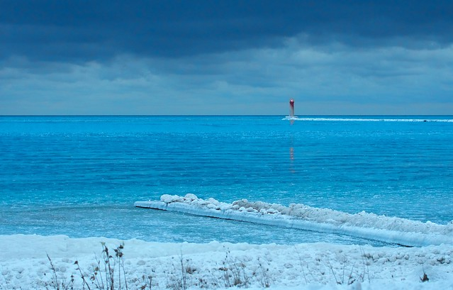 Icy Jetty and Lighthouse
