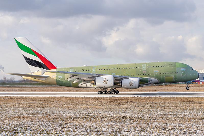 A380-842 Emirates F-WWAM - A6-EVR MSN271