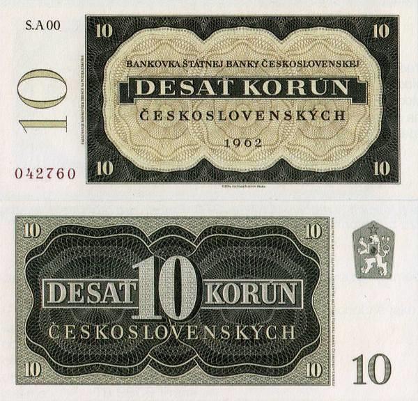 10 Kčs Československo 1962 nevydaná - REPLIKA