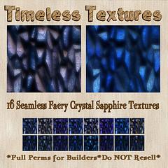 TT 16 Seamless Faery Crystal Sapphire Timeless Textures