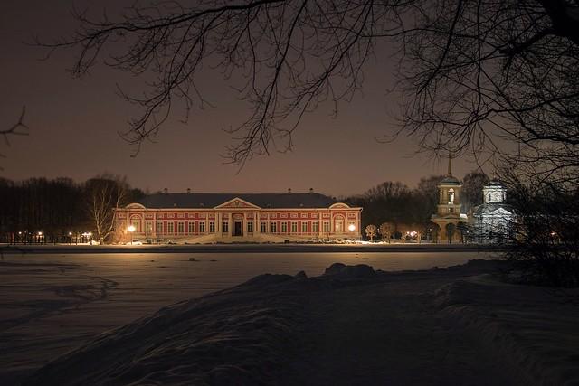 Moscow walks. Winter in Kuskovo