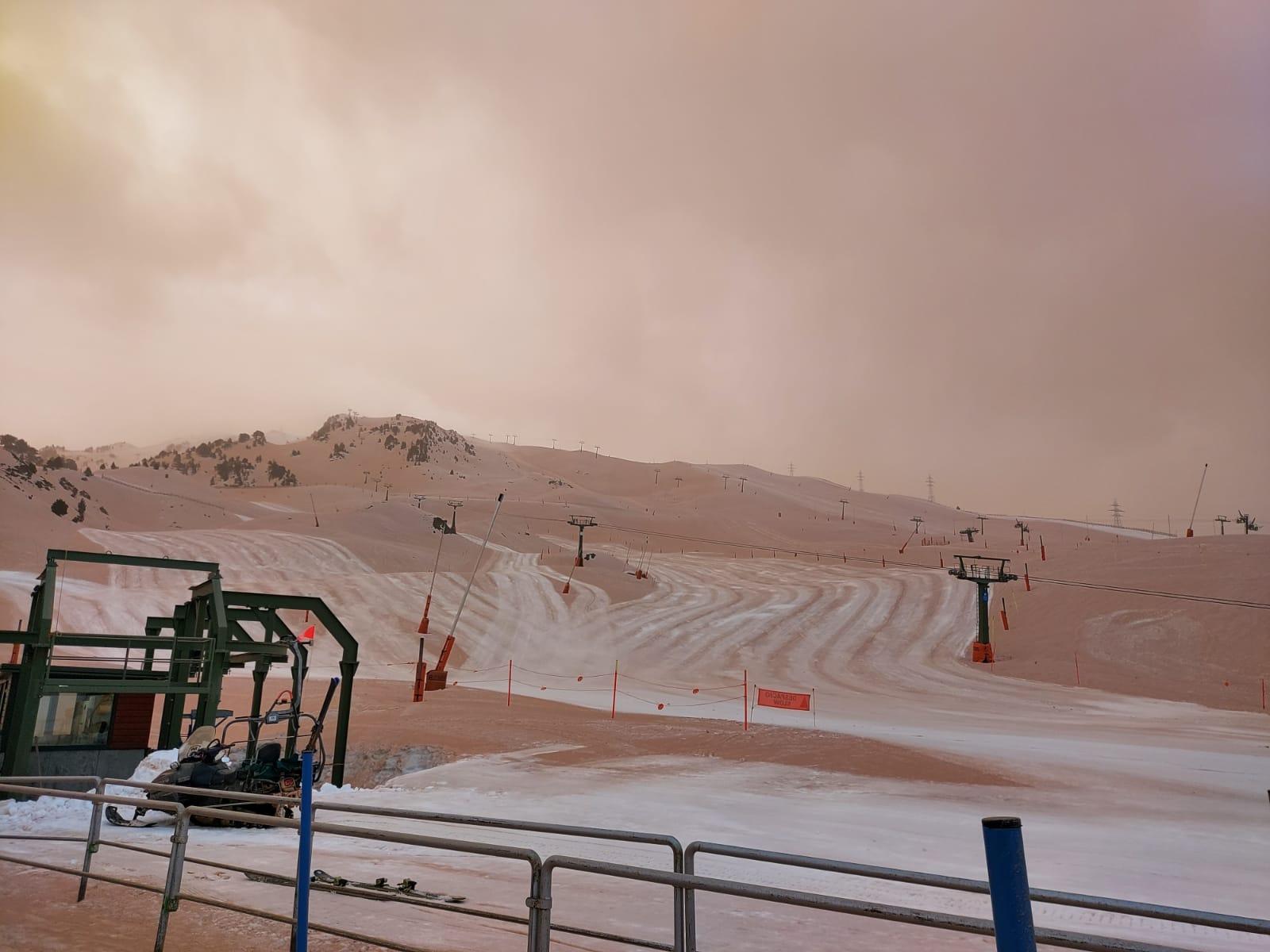 nieve marrón - nieve colacao