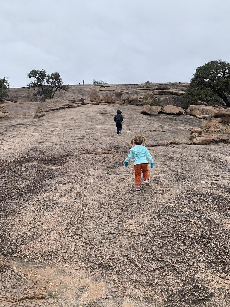 Kids Hiking to the Summit