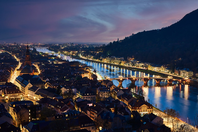 Evening in heidelberg