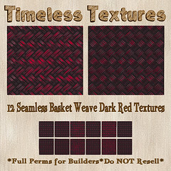 TT 12 Seamless Basket Weave Dark Red Timeless Textures