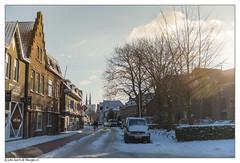 Snow bicycle road