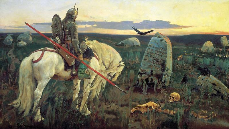 Victo Vasnetsov - Knight at the Crossroads, 1882