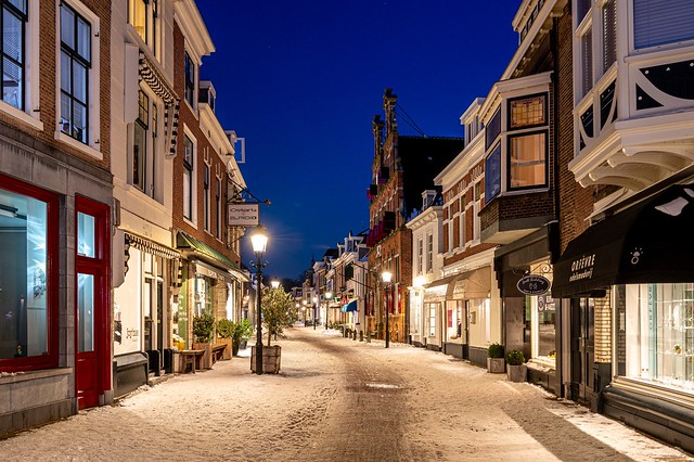 Old centre of Voorburg by night