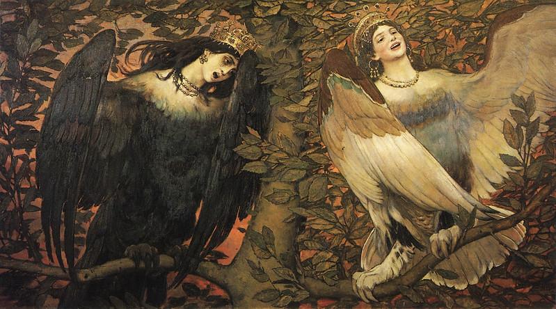 Viktor Vasnetsov - Sirin and Alkonost, The Birds of Joy and Sorrow, 1896