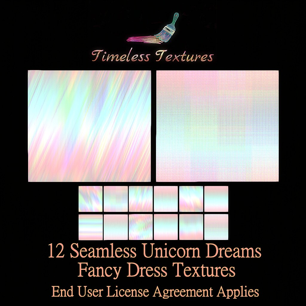 TT 12 Seamless Unicorn Dreams Fancy Dress Timeless Textures