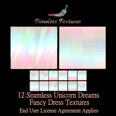 TT 12 Seamless Unicorn Dreams Fancy Dress Timeless Textures