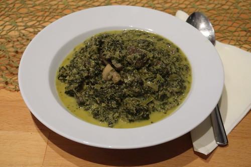 Grünkohl-Champignon-Eintopf  (aufgetaut)