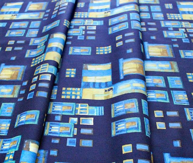 Clothworks City Lights Y3096-126 Cats in Windows Citron