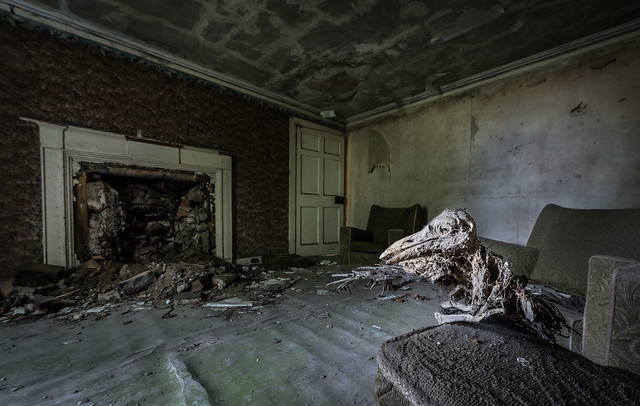 Inchy Winchy house - The house of the dead crows - Abandoned in Scotland