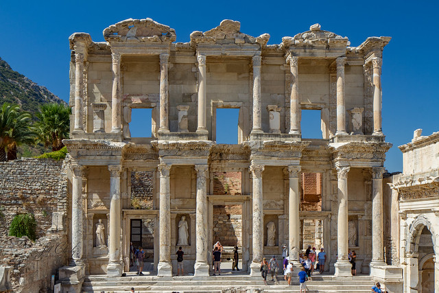 Armchair Traveling - The Library of Celsus, Ephesus, Turkey