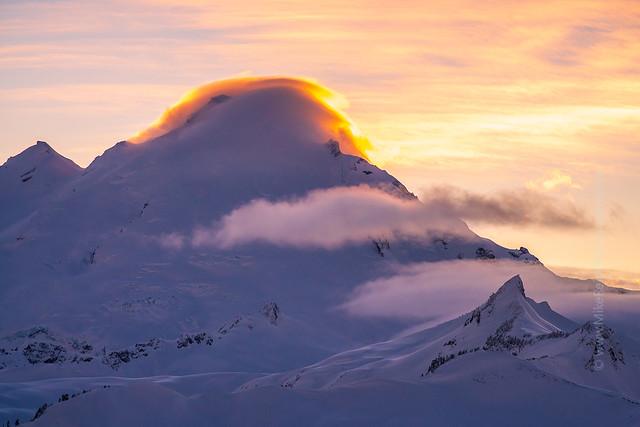 Mount Baker  Lenticular Sunset