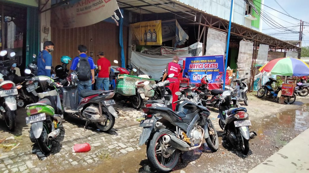 Yamaha Service Gratis untuk Korban Banjir di Jawa Tengah (1)