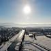 11.02.21 Sportplatz und Köndringen im Schnee von oben