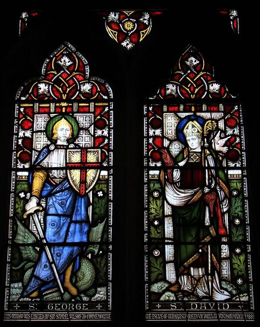 Stained Glass-St Michael & All Angels church-Hughenden Bucks-230319 (1)