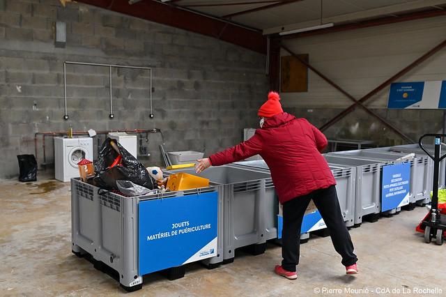 Ouverture de 5 zones de réemploi dont une recyclerie.
