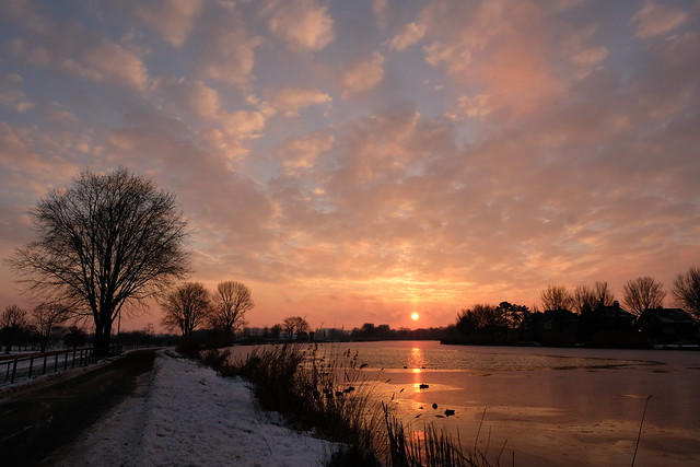 Sunrise at the Amstel River