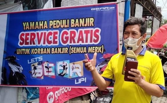 Yamaha Service Gratis untuk Korban Banjir di Jawa Tengah