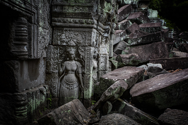 An Apsara At Preah Khan Temple, Cambodia