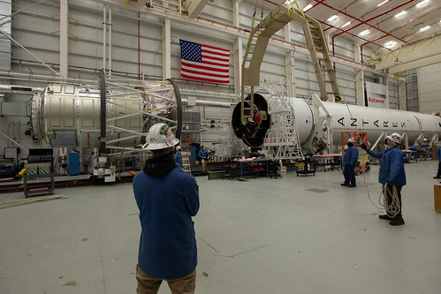 Cygnus Spacecraft Mates With Antares Rocket | by NASA Goddard Photo and Video
